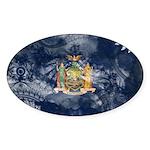 New York Flag Sticker (Oval 10 pk)