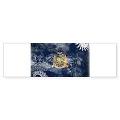 New York Flag Sticker (Bumper)