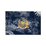 New York Flag Rectangle Magnet
