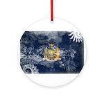 New York Flag Ornament (Round)