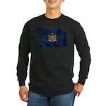 New York Flag Long Sleeve Dark T-Shirt