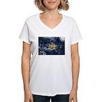 New York Flag Women's V-Neck T-Shirt