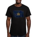 New York Flag Men's Fitted T-Shirt (dark)