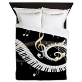 Piano Queen Duvet Covers