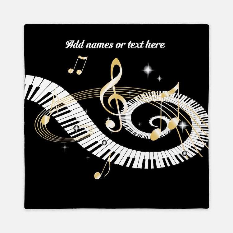 designer Musical notes Queen Duvet
