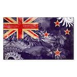 New Zealand Flag Sticker (Rectangle 10 pk)