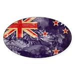 New Zealand Flag Sticker (Oval 50 pk)