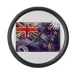 New Zealand Flag Large Wall Clock