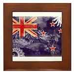 New Zealand Flag Framed Tile