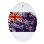New Zealand Flag Ornament (Oval)