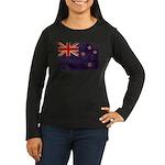 New Zealand Flag Women's Long Sleeve Dark T-Shirt