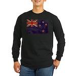 New Zealand Flag Long Sleeve Dark T-Shirt
