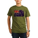 New Zealand Flag Organic Men's T-Shirt (dark)