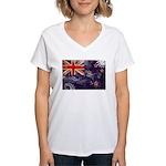 New Zealand Flag Women's V-Neck T-Shirt