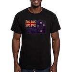 New Zealand Flag Men's Fitted T-Shirt (dark)