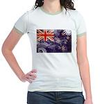 New Zealand Flag Jr. Ringer T-Shirt