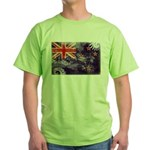 New Zealand Flag Green T-Shirt