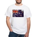 New Zealand Flag White T-Shirt