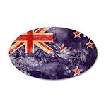 New Zealand Flag 38.5 x 24.5 Oval Wall Peel