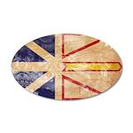 Newfoundland Flag 38.5 x 24.5 Oval Wall Peel