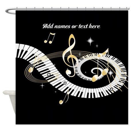 Designer Musical Notes Shower Curtain