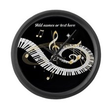 designer Musical notes Large Wall Clock