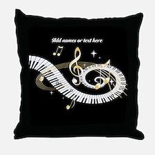 designer Musical notes Throw Pillow