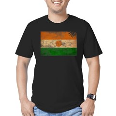 Niger Flag Men's Fitted T-Shirt (dark)
