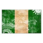 Nigeria Flag Sticker (Rectangle 50 pk)