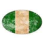 Nigeria Flag Sticker (Oval)