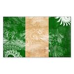 Nigeria Flag Sticker (Rectangle)