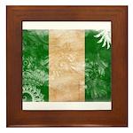 Nigeria Flag Framed Tile