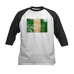 Nigeria Flag Kids Baseball Jersey