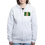 Nigeria Flag Women's Zip Hoodie