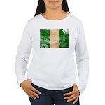 Nigeria Flag Women's Long Sleeve T-Shirt