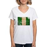 Nigeria Flag Women's V-Neck T-Shirt
