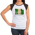 Nigeria Flag Women's Cap Sleeve T-Shirt