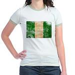 Nigeria Flag Jr. Ringer T-Shirt