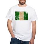 Nigeria Flag White T-Shirt