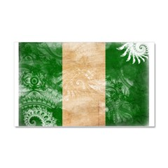 Nigeria Flag Car Magnet 20 x 12