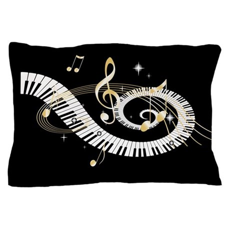 designer Musical notes Pillow Case