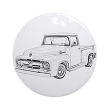 1956 Ford truck Ornament (Round)