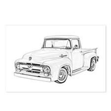 1956 Ford truck Postcards (Package of 8)