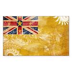 Niue Flag Sticker (Rectangle 50 pk)