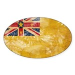 Niue Flag Sticker (Oval 50 pk)