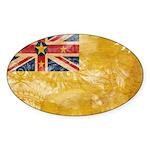 Niue Flag Sticker (Oval 10 pk)