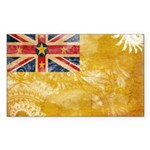 Niue Flag Sticker (Rectangle)