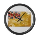 Niue Flag Large Wall Clock