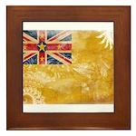 Niue Flag Framed Tile