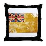 Niue Flag Throw Pillow